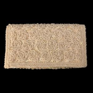 White Beaded Small Clutch  Hong Kong